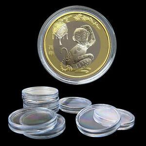 10x 35mm appliquée clair étuis à pièces de rangement capsules plastique suppo.fr