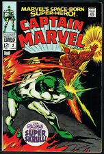 CAPTAIN MARVEL  2  VF/NM/9.0  -  Nice higher grade Super Skrull cover!