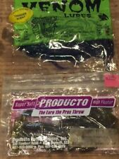 """1 PK OF SUPER SOF PRODUCTO HIGH FLOATER  4.5"""" GRUB GR PUMPKIN 10 CT QUALITY LURE"""