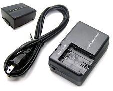 Battery + Charger for Panasonic VDR-D200 VDR-D210 VDR-D220 VDR-D230 VDR-D250