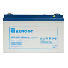 Renogy Deep Cycle Pure GEL Rechargeable 12 Volt 100Ah Battery for Solar Panels