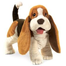 BASSET HOUND Dog Puppet # 2919  ~ FREE SHIPPING in USA ~ Folkmanis Puppets