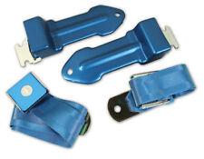 C2 Corvette 1965-66E Bowtie Bright Blue Lift Latch Seat Belts w/Boot and Winder