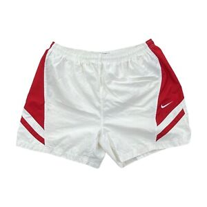 Vintage Nike White/Red Running Athletic Shorts Mens Size XL