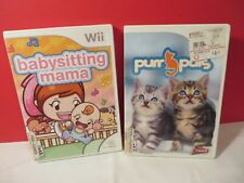 Babysitting Mama - Nintendo  Wii Game and Purr Pals Lot get both