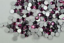 Amethyst 34ss Czech Glass Flatback Chaton Rose Rhinestones, 288 pieces -A0471