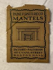 Paine Furniture Co Mantels Boston Ma 1903 Price List Rare Catalog Antique As Is