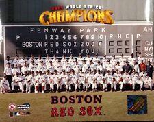 BOSTON RED SOX 2004 WORLD SERIES CHAMPIONS 8X10 TEAM PHOTO