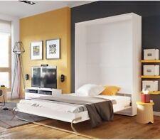 Vertical Wall Mounted BED Concept Pro 90-140x200 cm hidden foldaway white oak