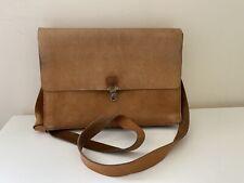 Vintage Leather Tan Satchel, Messenger Bag, Camel Light Brown, Nicole, Retro