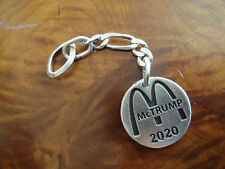 TRUMP McDonalds McTrump 2020 sterling silver Key chain made in the usa (c1)