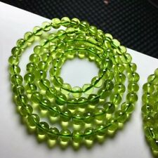 Natural Green Peridot Gemstone Beads Bracelet 5.5mm AAA 3rows