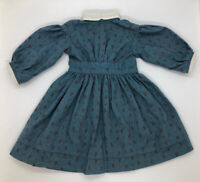 "Pleasant Company Kirsten Doll 1986 Blue Calico Meet Dress American Girl 18"" Doll"