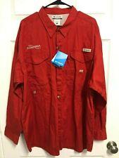 Flowserve Valtek Kammer Logix Men Red Vented Fishing Shirt 2Xl Columbia New Tag