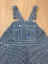 Big Smith Pin Striped Bib Overalls Jeans Workwear Mens Size 46 x 30 Excellent