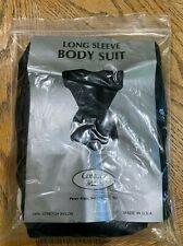 Kids Girls Ballet Gymnastics Black Long Sleeve Leotard Dance Bodysuit Size Small
