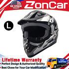 L Size Adult Motocross Helmet Dirt Bike Racing Full Face Matte Off-road Helmet