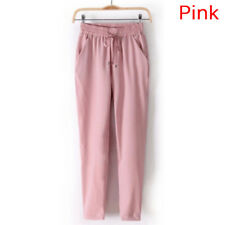 Women's Elastic Waist Casual Jogger Harem Pants Chiffon Pants Ladies Trousers
