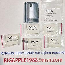 Ronson 1960~1980th Vintage Gas Lighter repair Kit R2-b Free Youtube DIY Video 10