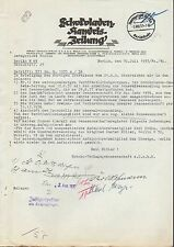 Berlin O 27, Letter 1937, Chocolate-Trade Newspaper, Chocolate-Verlag E.C. m.b.H.