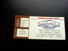 Rolling Stones ticket Brendan Byrne Arena E Rutherford New Jersey 05/11/81