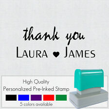 Pre-inked Personalized Custom Made Wedding  Return Address Rubber Stamp FRE641