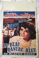 Original Retro Film Poster Belgium LE BEAU DANUBE BLEU M Sologne French 1939