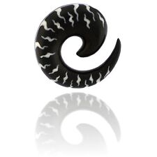 PAIR HORN 0g 8MM SPIRALS PLUGS TALONS TRIBAL INLAY PLUG