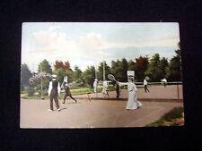 OLD PPC: TENNIS~1910~SPORTSWEAR~POSTAL STAMPS: PIETERBUREN~GRONINGEN