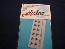 ARCHER FINE TRANSFERS BRITISH 79TH ARMOURED FORMATION SIGNS AR35124 1:35 NEW