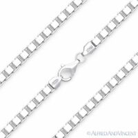 4.5mm Classic Box Link Italian Chain Necklace in Solid 925 Italy Sterling Silver