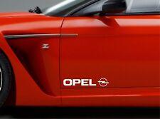2x Pegatina Puerta Para Opel logo lateral PEGATINAS VINILO PREMIUM CALIDAD rt69