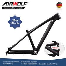 "26er grün glänzend carbon fahrradrahmen fiber 14 ""berg mtb fahrrad frameset BB92"