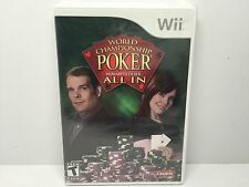 World Championship Poker All In (Nintendo Wii, 2007) New Factory Sealed