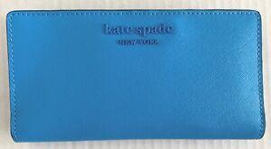 New Kate Spade New York Cameron Large Slim Bifold Leather wallet Oceanside