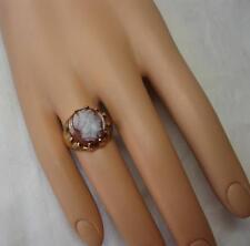 Cameo Ring Hardstone 14K Gold Antique Belle Epoque c1880 Edwardian Superb!