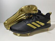 Adidas Adizero Afterburner V Baseball Cleats Black Gold CG5223 Men's Size 10.5