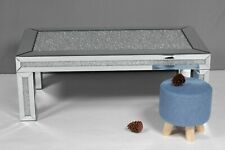 Mirrored Crushed Diamond Coffee Table - Contemporary Design - Free Delivery