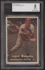 1957 Topps #15 Robin Roberts HOF Phillies BVG 8 NM-MT