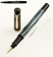 Old Style Pelikan Rollerball R200 in Blue Marble & Black (sold out by Pelikan)