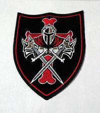 P5 Christian Knights Templar Iron on Patch Biker Crusade Sword Shield Cross