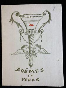 🌓 JEAN BERTHET Poèmes en verre Couverture Guillaume Monin Envoi à Michel Ciry