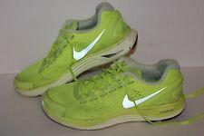 Nike Lunarglide 4 + Running Shoes, #524977-707, Volt/Silver, Mens US Size 9.5