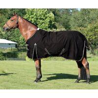 ELDORADO Regendecke für Pferde - schwarz - 155 cm Pferdedecke Regen Decke Pferd