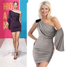 Polyester Cocktail One Shoulder Short/Mini Dresses