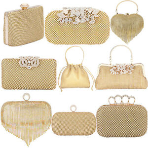Rhinestones Crystal Clutches Evening Handbags for Womens Crossbody Shoulder Bags