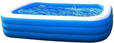 "10 foot Inflatable Kiddie Swimming Pool - Blow Up Large Size 120"" x 72"" x 22"""