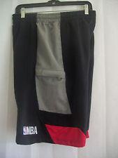 NBA Elavation Sz M Medium Basketball shorts polyester Red Black Gray Mesh lined