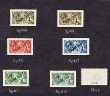 Rey George V caballitos de mar 1913 Conjunto de 6 (falsificaciones)