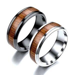 Mens Womens Wooden Band Wedding Gift Fashion Ring
